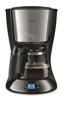 HD7459/20 Daily Filter-Kaffeemaschine, Timer, schwarz/metall