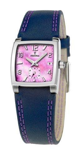 Festina F16181/G - Reloj de mujer de cuarzo, correa azul y morada