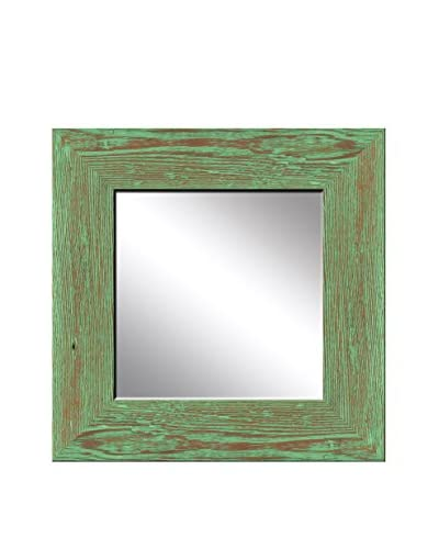 PTM Images Recovered Wood Mirror, Rustic Green