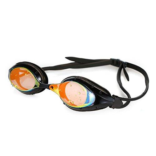 HiCool Schwimmbrille, Schwimmbrille für Erwachsene 100% UV-Schutz + Antibeschlag Starkes Silikonband