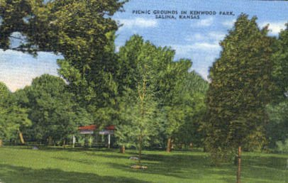 Picnic Grounds at Kenwood Park in Salina, Kansas 1959
