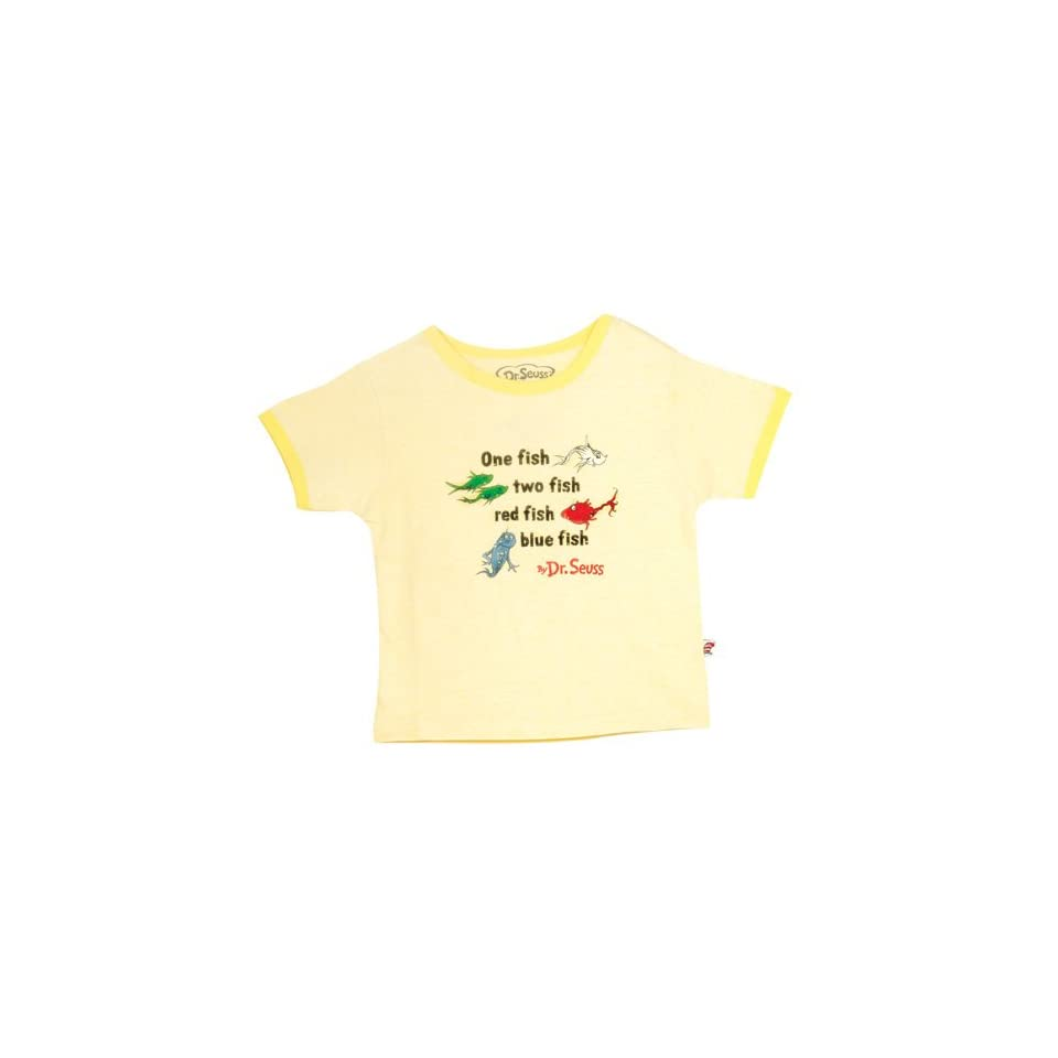 a061e551587 Baby Dr. Seuss Vintage Ringer T shirt Light Yellow Red on PopScreen