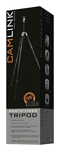 Camlink 28mm Line Diameter Professional Tripod - Silver