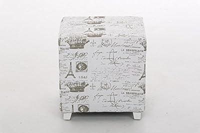 CLP Sitz-Hocker ARIANA, 40 x 40 cm, Sitzhöhe 40 cm weiß von CLP - Gartenmöbel von Du und Dein Garten