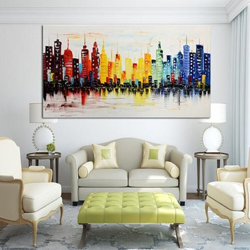 120X60CM Modern City Canvas Abstract Painting Print Living Room Art ...