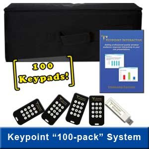 Keypoint Interactive Audience Response System With 100 Keypads