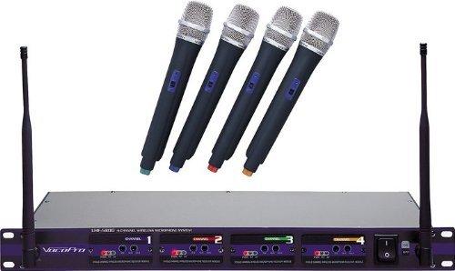Vocopro Uhf5800-3 4-Channel Uhf Wireless Microphone
