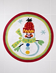 Snowman Design Bath Mat