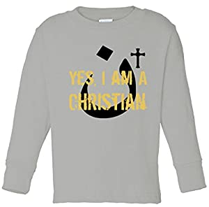 Yes I'm A Nasarani (Christian) Arabic Letter N Toddler long sleeve T-Shirt Heather 3T