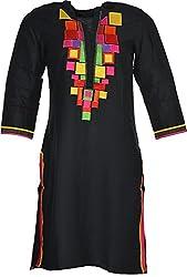 Artisan Women's Cotton Straight Kurta (CZF10021_XXL, XXL)