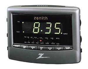 vintage Zenith clock radio 1960s mid century white alarm |Zenith Clock Radio