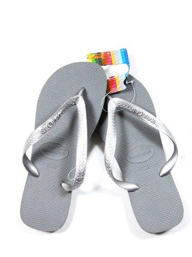 c8c33cc29b40 Havaianas womens slim classic gray rubber flip flops shoes 41-42 New Review