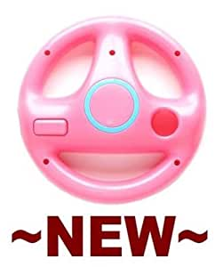 Nintendo Wii Remote Holder - Pink Steering Wheel