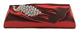Scarleton Flap Clutch with Crystals H315510 - Red