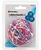 OfficeMax Rubber Band Balls, Pink, Purple and White