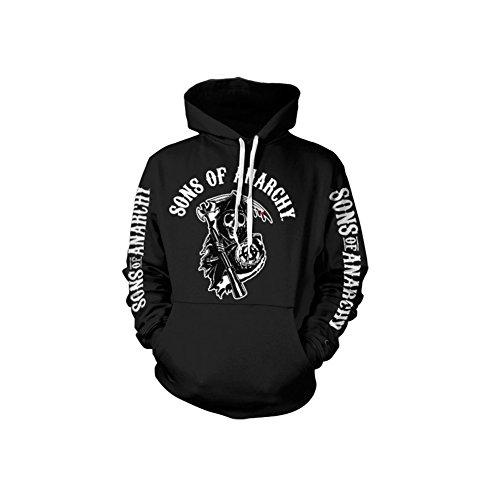 Sons Of Anarchy Logo Hoodie (Black), Medium