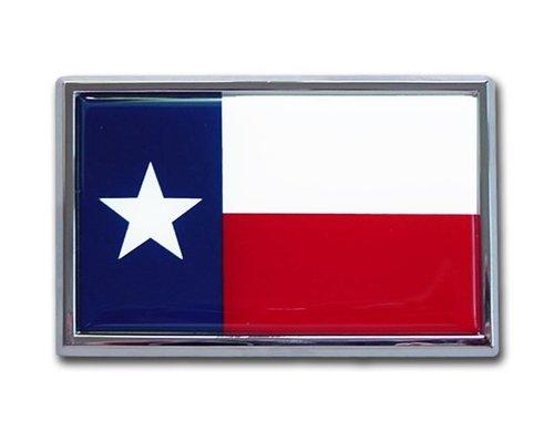 TX Texas State Flag Chrome Auto Emblem