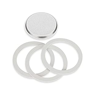 Bialetti Gaskets & Filter Set for Bialetti Moka Express 12-Cup Espresso Machine from Bialetti