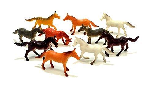 "20 Piece Horse Figures 2.5"" Plastic"