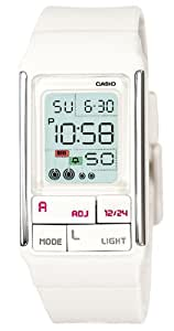 Casio Women's LDF52-7A White Resin Quartz Watch with Digital Dial