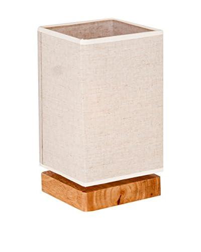 Homemania Lampada Da Tavolo Wood Noce