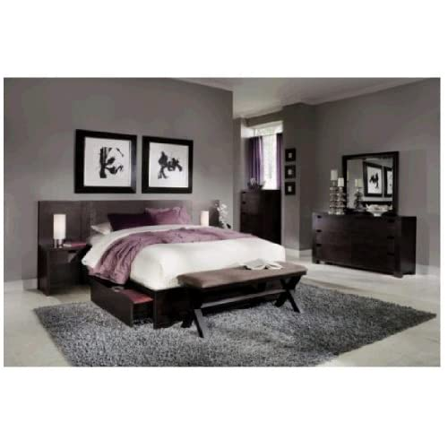 Casa moda 7 pc king wall storage bedroom for Bedroom furniture amazon