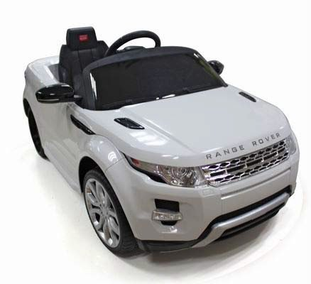 Licensed by Range Rover Kids White Range Rover Evoque Ride On Car Toy With Remote Control