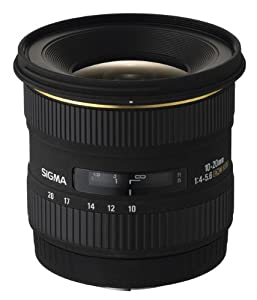Sigma 10-20mm f/4-5.6 EX DC HSM Lens for Nikon Digital SLR Cameras