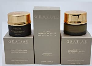 Gratiae Organic Ultrox Expression Marks Anti Wrinkle Set Mask + Cream + Serum Full Size from Gratiae