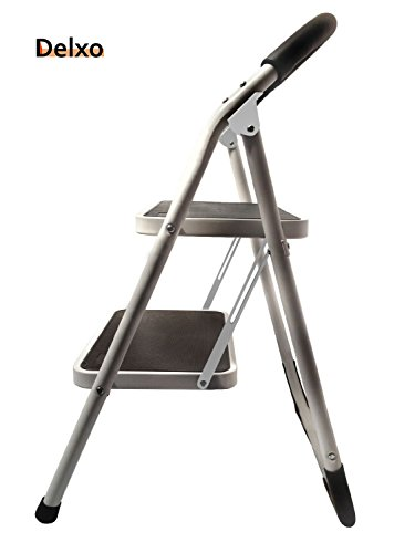 Delxo Lightweight Steel Step Stool With Handgrip 330lbs