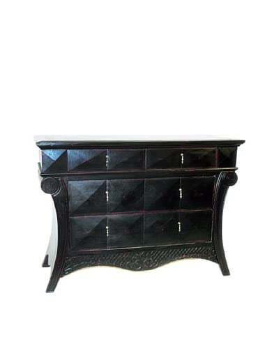 Charleston Paris Chest, Antique Black