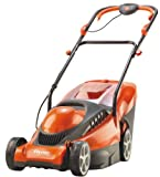 Flymo Chevron 34VC 1400W 34cm Electric 4-Wheeled Lawnmower with Rear Roller