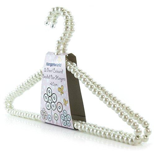 Hangerworld Lot de 48 cintres décoratifs en métal perlés pour vêtements/robes