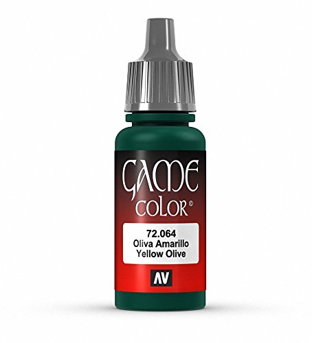 Vallejo Game Color Yellow Olive Paint, 17ml