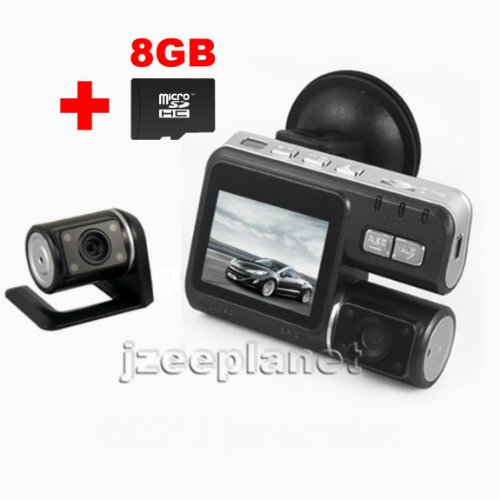 "Mini Hd 1080P Car Camcorder Dual Lens Ir Camera 4Gb Video Recorder Dvr Cam G-Sensor 2.0 "" Tft Lcd Monitor"