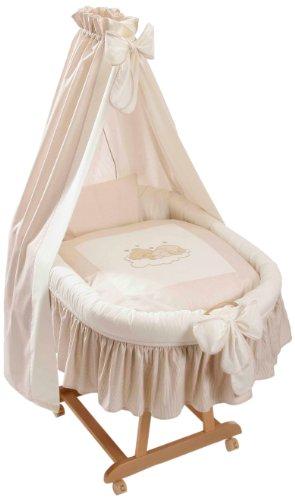 Easy Baby 485-83 - Set biancheria per lettino, decorazione: orsetto addormentato, colore: Beige