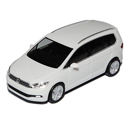 VW-Volkswagen-Touran-II-Weiss-Ab-2015-H0-187-Herpa-Modell-Auto