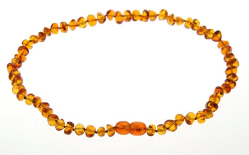 Cognac Amber Teething Baby Beaded Necklace