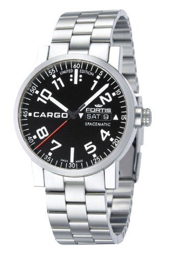 Fortis Men's 623.22.81 M Cargo Automatic Black Dial Watch