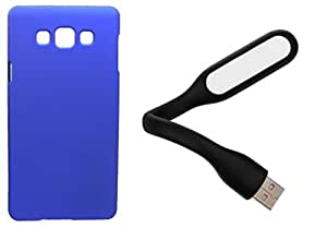 Toppings Hard Case Cover With USB LED Light For Samsung Galaxy A5 - Blue