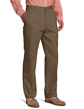 IZOD Men's American Chino Flat Front Pant, Decaf Coffee, 29x30