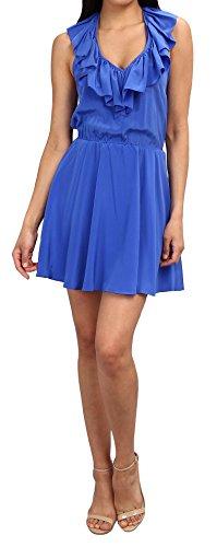 Amanda Uprichard Women'S Ruffle Halter Dress In Cobalt, M