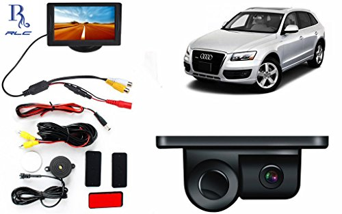 "2in1 Car Parking Sensor Reversing Radar Rear Camera with 4.3"" LCD TFT Monitor Audi Q3"