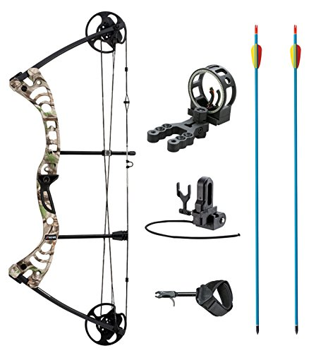 leader-accessories-compound-bow-30-55lbs-19-29-archery-hunting-equipment-with-max-speed-296fps-green