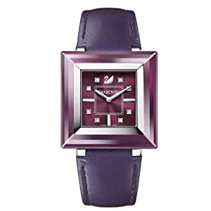 Swarovski Rock'n'Light - Reloj analógico de mujer de cuarzo con correa de piel lila