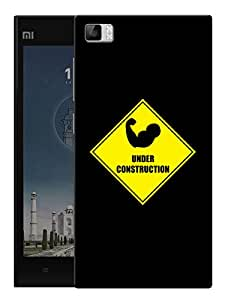 """Muscles Under Construction Printed Designer Mobile Back Cover For """"Xiaomi Redmi MI3"""" By Humor Gang (3D, Matte Finish, Premium Quality, Protective Snap On Slim Hard Phone Case, Multi Color)"""