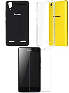 NIROSHA Tempered Glass Screen Guard Cover for Lenovo A6000 - Combo