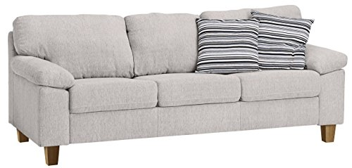 Best Deal Jysk 3 Seater Sofa Gedser Fabric Sand Best Sofas Couches