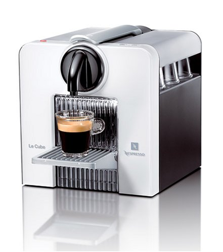Coffee cafe nespresso c180w le cube automatic espresso machine arctic white - Machine a cafe nespresso ...