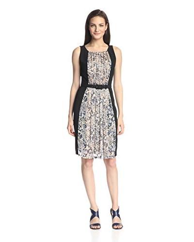 Eva Franco Women's Gavin Colorblocked Fit-and-Flare Dress